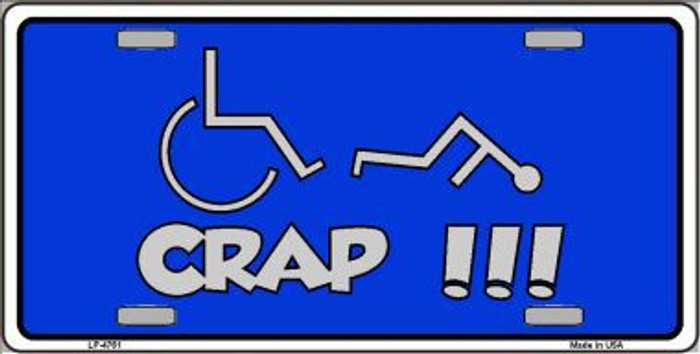 Handicap Crap Logo Metal Novelty License Plate LP-4761