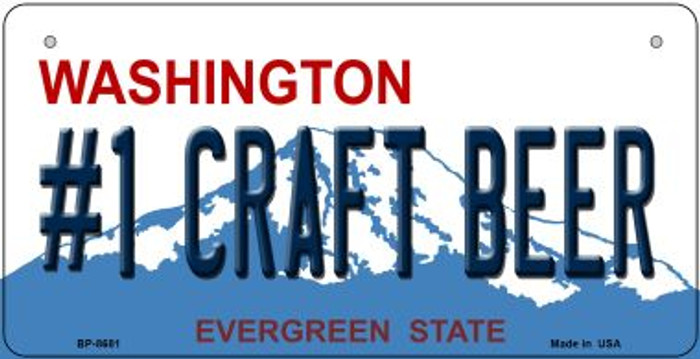 1 Craft Beer Washington Novelty Metal Bicycle Plate BP-8681