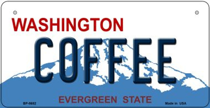 Coffee Washington Novelty Metal Bicycle Plate BP-8682