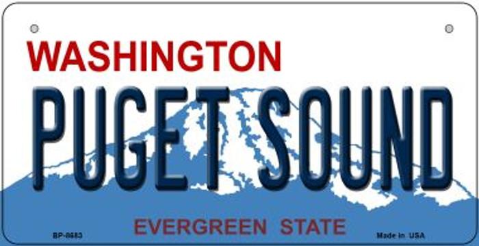 Puget Sound Washington Novelty Metal Bicycle Plate BP-8683