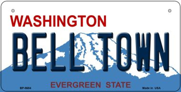 Bell Town Washington Novelty Metal Bicycle Plate BP-8684