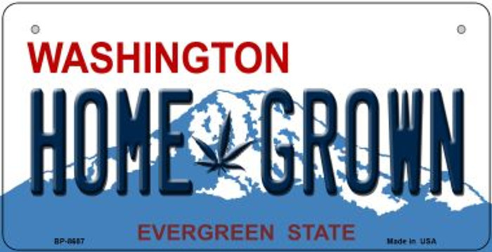 Home Grown Weed Washington Novelty Metal Bicycle Plate BP-8687