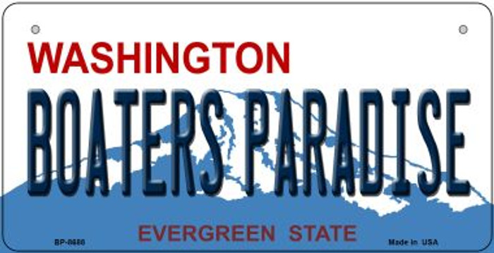 Boaters Paradise Washington Novelty Metal Bicycle Plate BP-8688