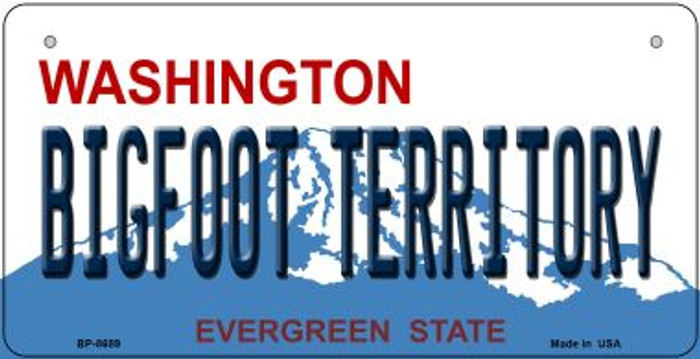 Bigfoot Territory Washington Novelty Metal Bicycle Plate BP-8689