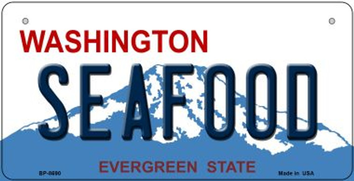 Seafood Washington Novelty Metal Bicycle Plate BP-8690