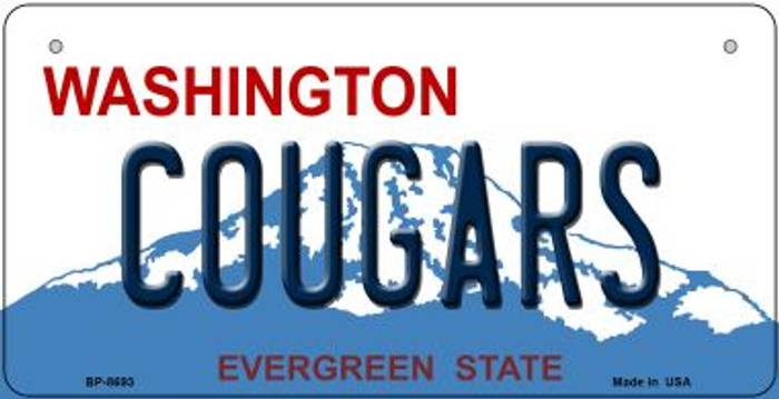 Cougars Washington Novelty Metal Bicycle Plate BP-8693