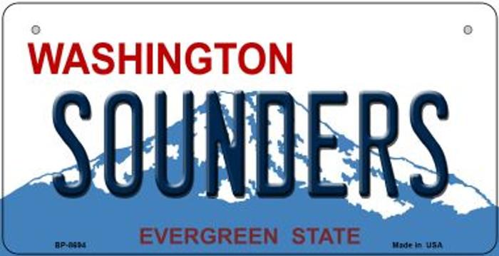 Sounders Washington Novelty Metal Bicycle Plate BP-8694