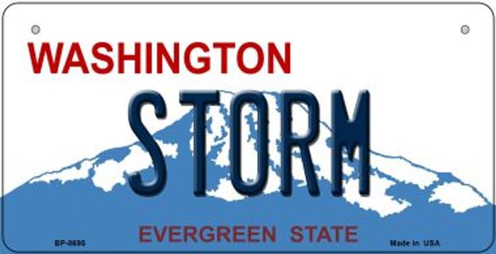 Storm Washington Novelty Metal Bicycle Plate BP-8695