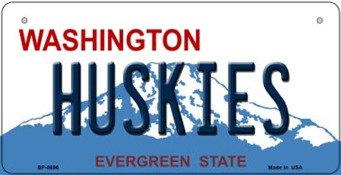 Huskies Washington Novelty Metal Bicycle Plate BP-8696