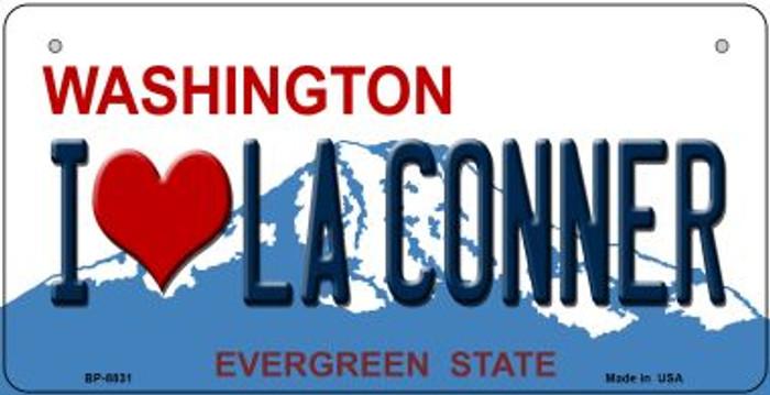 I Love LA Conner Washington Novelty Metal Bicycle Plate BP-8831