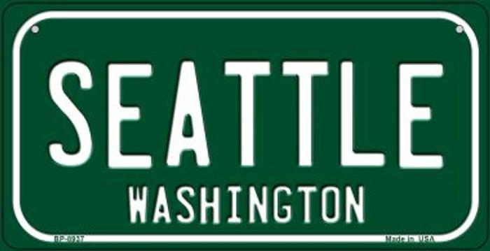 Seattle Green Washington Novelty Metal Bicycle Plate BP-8937