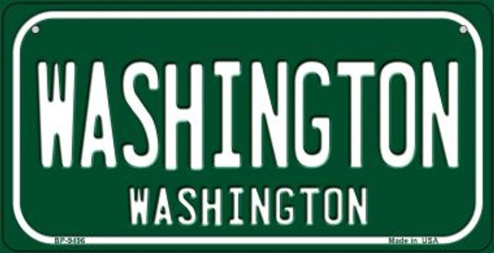 Washington Green Washington Novelty Metal Bicycle Plate BP-9496