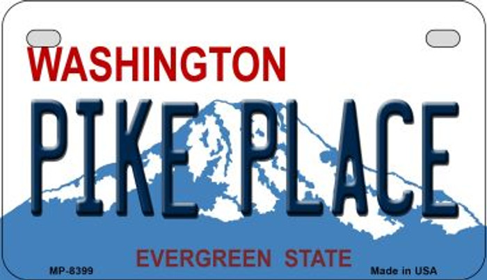 Pike Place Washington Novelty Metal Motorcycle Plate MP-8399
