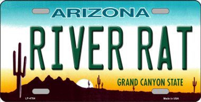 River Rat Arizona Novelty Metal License Plate LP-4764