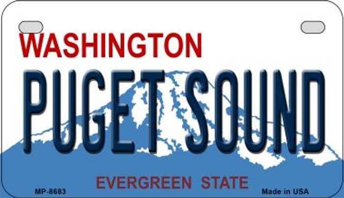 Puget Sound Washington Novelty Metal Motorcycle Plate MP-8683