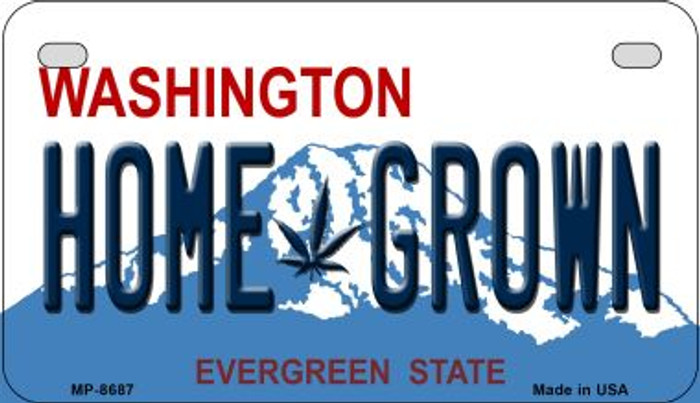 Home Grown Weed Washington Novelty Metal Motorcycle Plate MP-8687
