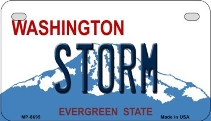 Storm Washington Novelty Metal Motorcycle Plate MP-8695