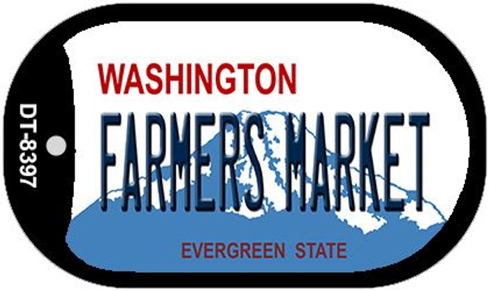 Farmers Market Washington Novelty Metal Dog Tag Necklace DT-8397