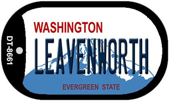 Leavenworth Washington Novelty Metal Dog Tag Necklace DT-8661