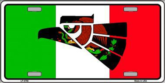 Made In Mexico Flag Metal Novelty License Plate LP-4769