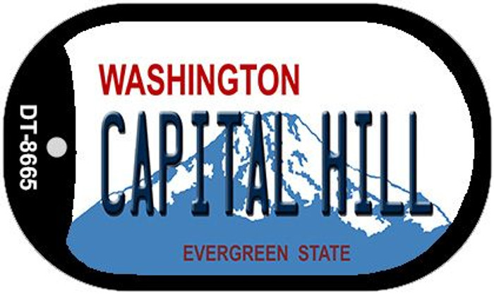 Capital Hill Washington Novelty Metal Dog Tag Necklace DT-8665
