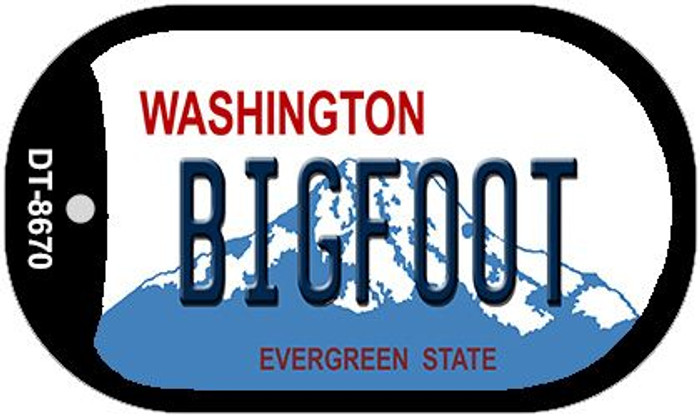 Bigfoot Washington Novelty Metal Dog Tag Necklace DT-8670