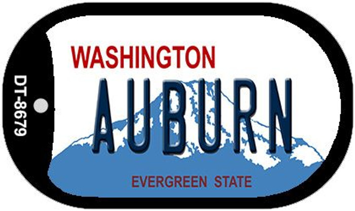 Auburn Washington Novelty Metal Dog Tag Necklace DT-8679
