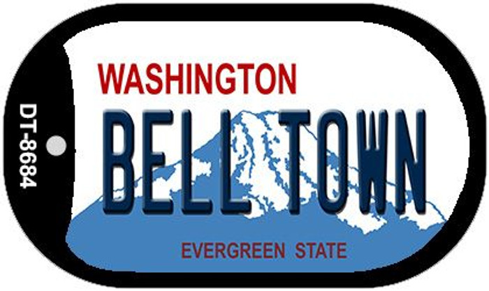 Bell Town Washington Novelty Metal Dog Tag Necklace DT-8684