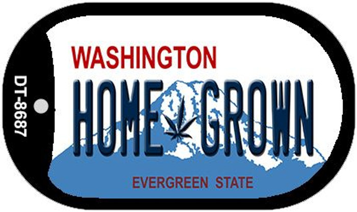 Home Grown Weed Washington Novelty Metal Dog Tag Necklace DT-8687