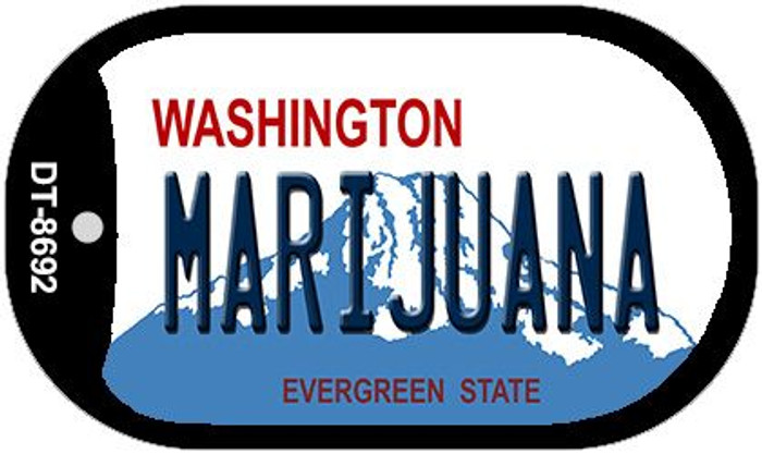 Marijuana Washington Novelty Metal Dog Tag Necklace DT-8692