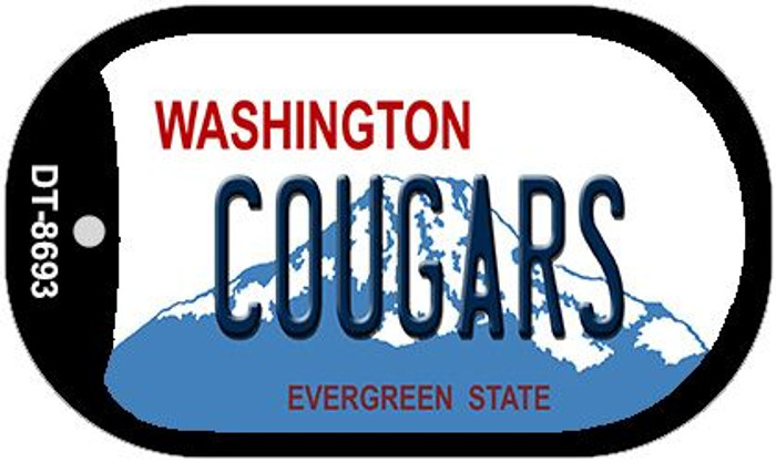 Cougars Washington Novelty Metal Dog Tag Necklace DT-8693