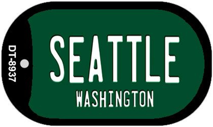 Seattle Green Washington Novelty Metal Dog Tag Necklace DT-8937