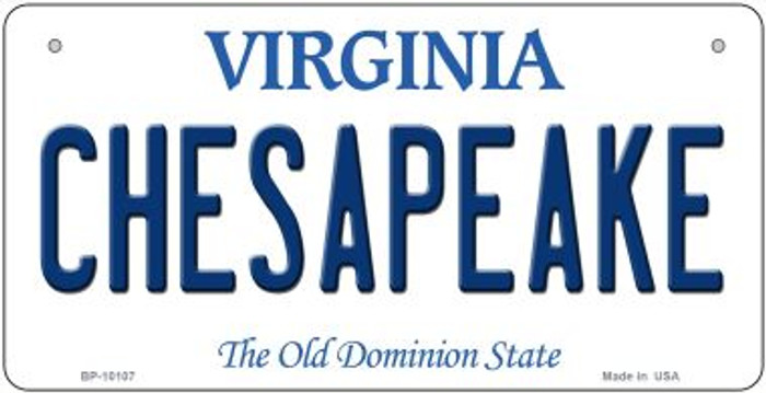 Chesapeake Virginia Novelty Metal Bicycle Plate BP-10107