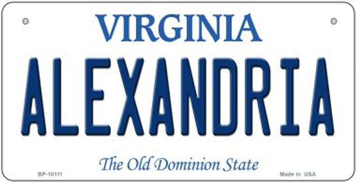 Alexandria Virginia Novelty Metal Bicycle Plate BP-10111