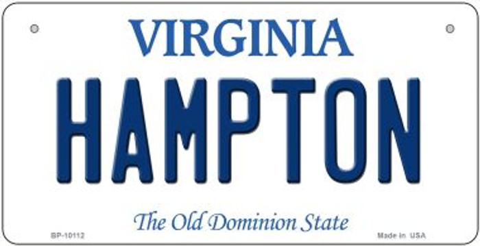 Hampton Virginia Novelty Metal Bicycle Plate BP-10112