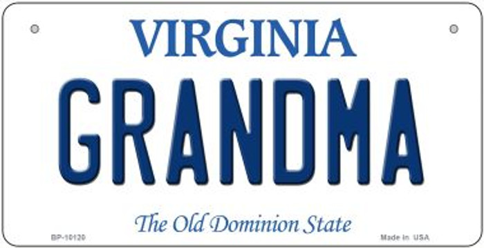 Grandma Virginia Novelty Metal Bicycle Plate BP-10120