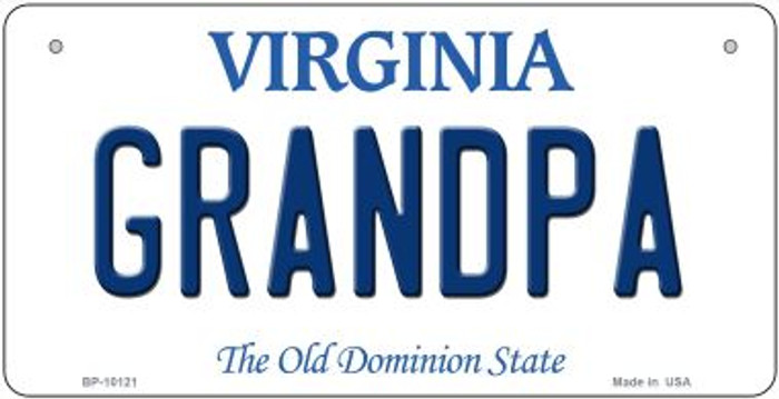 Grandpa Virginia Novelty Metal Bicycle Plate BP-10121