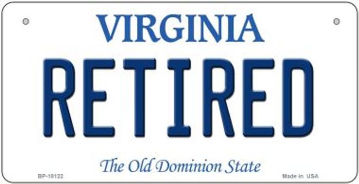 Retired Virginia Novelty Metal Bicycle Plate BP-10122