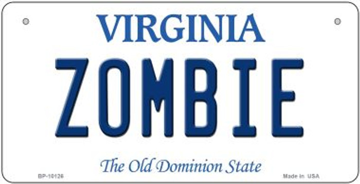 Zombie Virginia Novelty Metal Bicycle Plate BP-10126