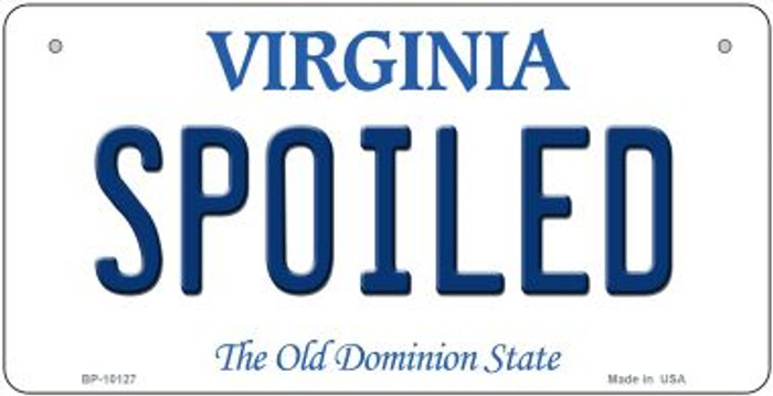 Spoiled Virginia Novelty Metal Bicycle Plate BP-10127