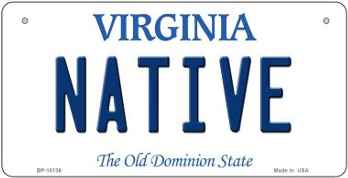 Native Virginia Novelty Metal Bicycle Plate BP-10136