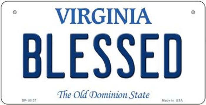 Blessed Virginia Novelty Metal Bicycle Plate BP-10137