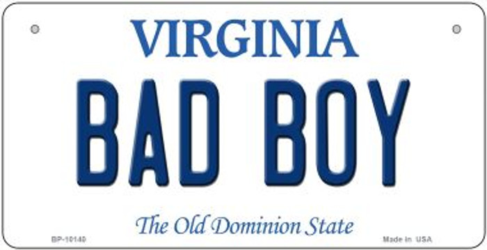 Bad Boy Virginia Novelty Metal Bicycle Plate BP-10140