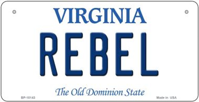Rebel Virginia Novelty Metal Bicycle Plate BP-10143