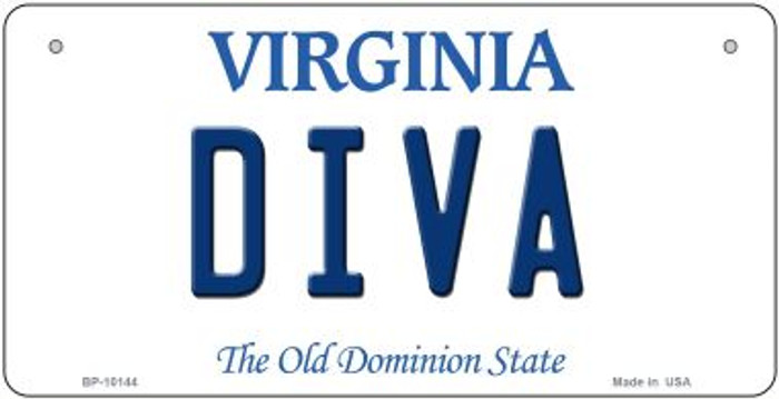 Diva Virginia Novelty Metal Bicycle Plate BP-10144