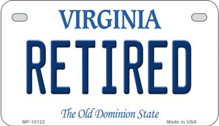 Retired Virginia Novelty Metal Motorcycle Plate MP-10122