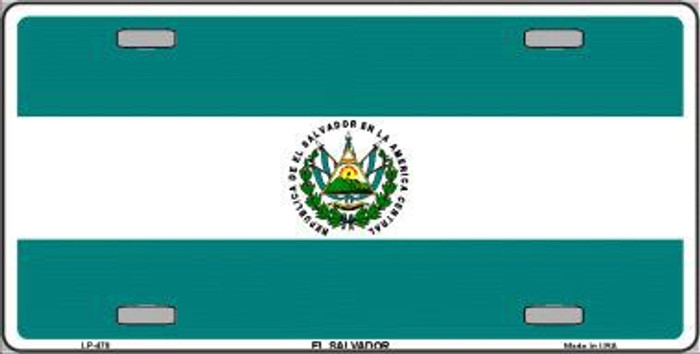El Salvador Flag Metal Novelty License Plate LP-478