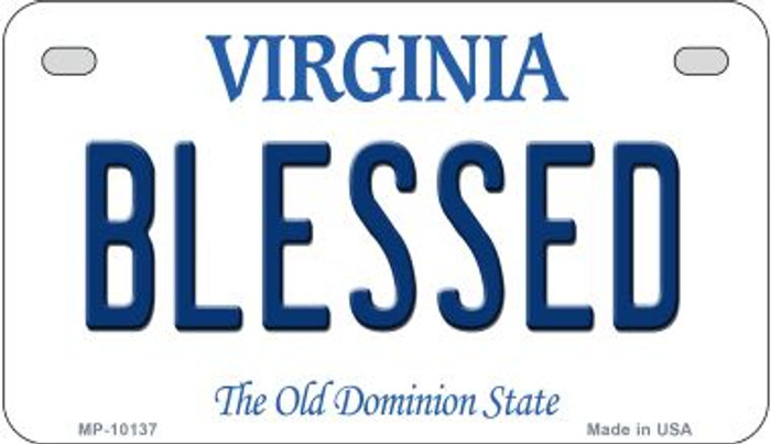 Blessed Virginia Novelty Metal Motorcycle Plate MP-10137