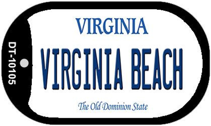 Virginia Beach Novelty Metal Dog Tag Necklace DT-10105