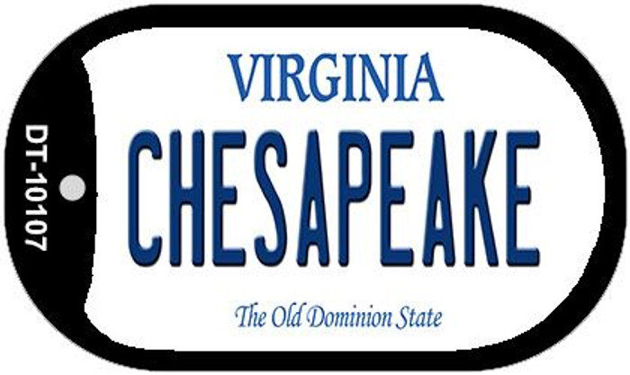Chesapeake Virginia Novelty Metal Dog Tag Necklace DT-10107